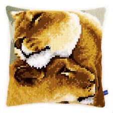 1x Cross Stitch Kit Cushion Lion Friendship Sewing Craft Tool Hobby Art