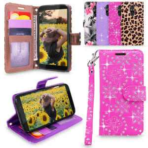 For Alcatel 7 / Revvl 2 Plus PU Leather Wallet Case Card Holder Flip Stand Cover