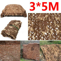 Camouflage Camo Net Netting Hide Hunting Military Army Woodland Decoration 3X5M