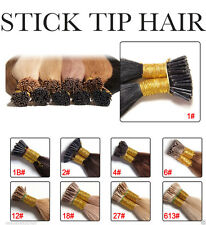 "1 GRAM/1G 16"" 18"" 20"" 22"" 24"" STICK I-TIP Pre Bonded  Real Human Hair Extensions"