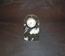 Small Black & White Marble Quartz Movement Desk Mantel Shelf Clock