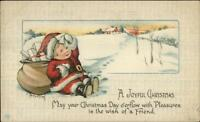 Christmas - Little Boy as Santa Claus - Charles Twelvetrees c1910 Postcard