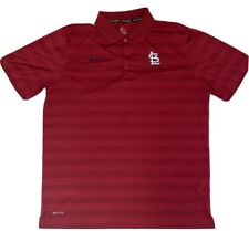 NIKE BSBL Dri-Fit Polo Shirt St. Louis Cardinals MLB Men's Size XL Red Logo