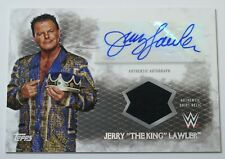 2015 Topps WWE Undisputed Jerry The King Lawler Legend AUTO Shirt Relic