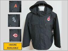 New Sz S-5XL Black Hooded Zip Up Mlb Mens Polyester #97D Parka Coat Jacket