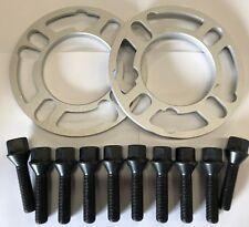 2 x 5 mm BIMECC Nero Lega Ruota Distanziatori 10 x M14X1.25 sintonizzatore bulloni Mini 66.6