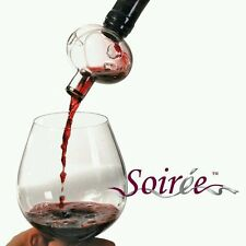 Soiree Wine Bottle Top Aerator Hand Blown Glass Decanter Bar With Drying Stand