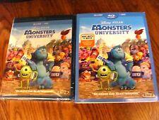 Monsters University)Disney,PIXAR:Blu-Ray+DVD 2 Disc) New;Slipcover+II Ship Fast