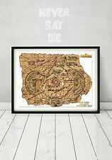 Framed The Goonies Replica Treasure Map Movie Prop 80s Gift Truffle Shuffle Art