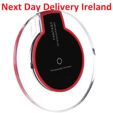 Fast Qi Wireless Charger Charging Pad Samsung Note S8 S7 S6 Edge iPhone 8 X Plus