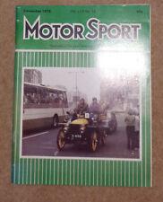 Motor Sport December 1978 Porsche 924 Turbo, Saab Turbo, British F1 Championship