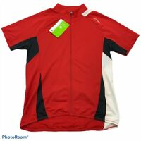 Cannondale Mens ReSpun Cycling Jersey Shirt Red Color Short Sleeve Zip Up L New