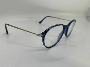 Persol Eyeglasses Frames 3125-V 1054 Blue&Gold FLOOR MODEL 49mm 19mm 140mm