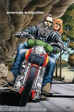 Dave David Mann Biker Art Motorcycle Poster Print Easyriders Ozark Mountain Run