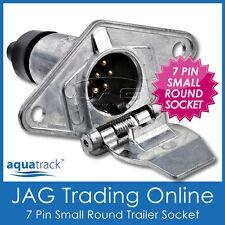 7 PIN SMALL ROUND METAL TRAILER SOCKET/Light Connector - Boat/Caravan/Car/Truck