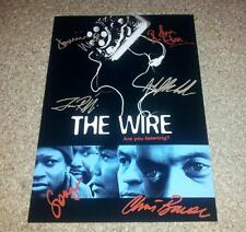 """THE WIRE CASTX6 PP SIGNED PHOTO POSTER 12"""" X 8"""" A4 DOMINIC WEST IDRIS ELBA N2"""