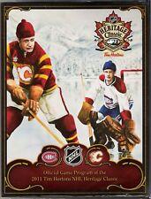2011 NHL HERITAGE CLASSIC GAME PROGRAM CALGARY FLAMES vs MONTREAL CANADIENS