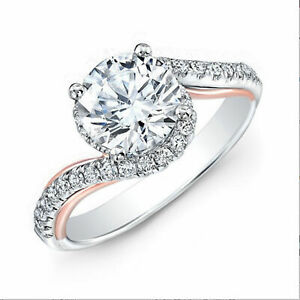 Certified 1.00 Ct Diamond Solitaire Engagement Rings White Gold Finish Size M N