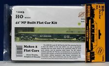Central Valley 1003 HO 40' NP Flat Car Kit Styrene High Detail (2 pack) NIB