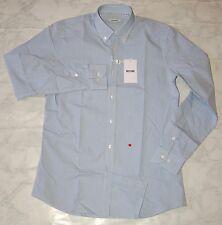 Moschino Men's Formal Shirt Blue Check, Size 15 3/4 (40)