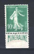 "FRANCE STAMP 188 A "" SEMEUSE 10c BANDE PUBLICITAIRE MINERALINE "" NEUF SIGNE P617"