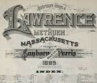 Lawrence, Massachusetts~ about 80 Sanborn maps~ made in 1895~PDF format