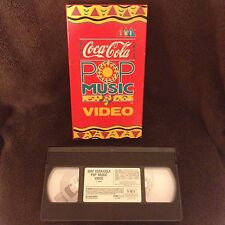 Coca Cola Pop Music Video - VHS Tape - Super Rare