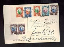 1932 San Marino RPPC Postcard Cover to Czechoslovakia Fortress on Rock