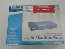 D-LINK DVG-1402S 4-PORT VOIP BROADBAND ROUTER NEW