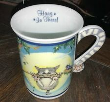 "Comical Cats Coffee Mug Gary Patterson ""Hand In There� Danbury Mint Collectible"