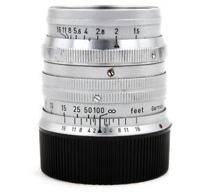 Ex+ Leica Ernst Leitz GmbH Wetzlar Summarit 50mm f/1.5 5cm Leica M Mount Silver