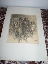 Lithographie Theophile Alexandre Steinlen L'exode Belge Epreuve d'artiste