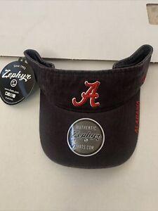 Alabama Crimson Tide Adjustable Zephyr Men's Visor New 🔥 🙏