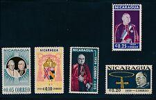 Nicaragua (1959) POPE JOHN XXIII & CARDINAL SPELLMAN #819-823 *COMPLETE*; MNH