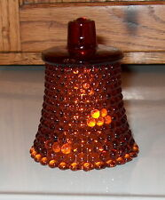 HOMCO Home Interiors Votive Cup Candle Holder Amber Hobnail