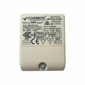 LED Driver 3 Watt 350mA Constant Current 100-240 Volts