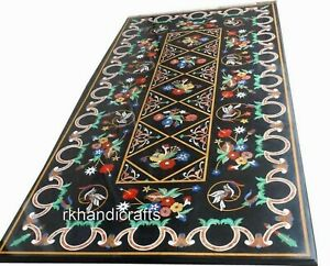 24 x 48 Inches Marble Coffee Table Top Mosaic Art Patio Table with Elegant Look