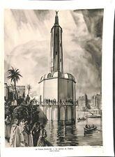 Exposition universelle Paris France d'outre-mer pavillon de  ILLUSTRATION  1937