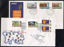 JERSEY 1969/70  DEFINITIVE FIRST DAY COVER  LOT OF FIVE  AS ISSUED