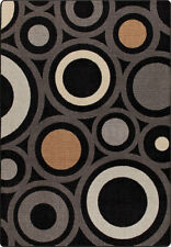 "5x8 Milliken In Focus Onyx Modern Circles Retro Area Rug - Approx 5'4""x7'8"""