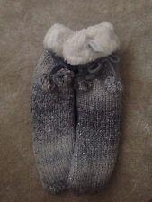Boux Avenue Grey / Silver Sequin Slipper/ Bed Socks
