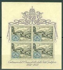 Vatican City #155A, Roman States Stamp souvenir sheet w/ fold