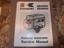 KAWASAKI GE4000 GE4500 GENERATOR SERVICE MANUAL 1989