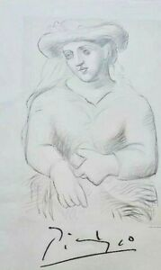 """Pablo Picasso """"Femme Au Chapeau Et Au Missel  1982 plate signed"""