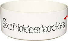 Keramik Futternapf SCHLABBERBACKE Hundenapf Futterschüssel - 1.300ml