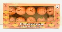 "Vtg Halloween 10 Electrified-Terrified Blinking 2"" Jack-O-Lantern Lights NIB!"