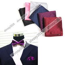 New Wedding Men Hanky Pocket Square Handkerchief Polka Dot Luxury  JA0001c