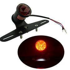 12V Motorcycle LED Diamond Rear Brake Stop Mount Tail Light License Plate Lamp