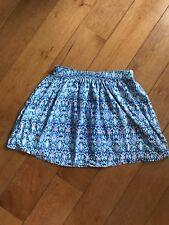 Hollister Mini Skirt Blue Multi Color Size M
