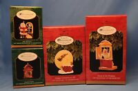 Hallmark Ornaments COLLECTORS CLUB Set of 4 Away to the Window jolly old santa
